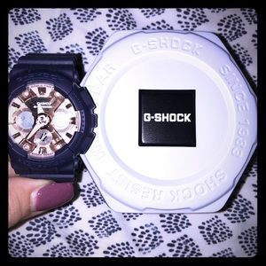 G-Shock Women's Watch Rose Gold/Navy